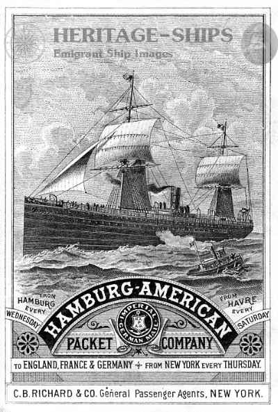 Frisia - Hamburg - America advert