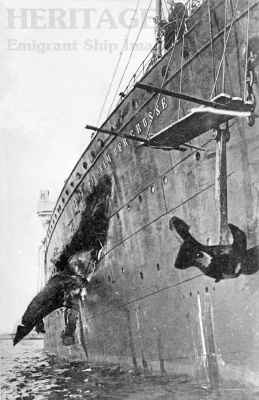 Kaiser Wilhelm der Grosse - damage after collision