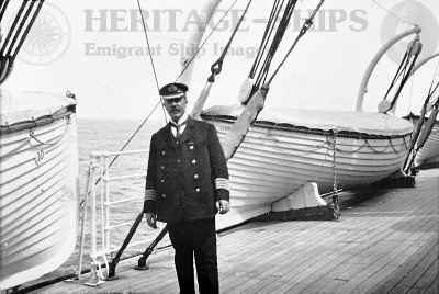 Saxonia (1) - Capt. J. C. Barr on the boat deck