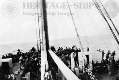 Haverford - troops on the fore-deck WW1
