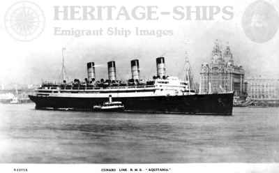 Aquitania - on the Mersey