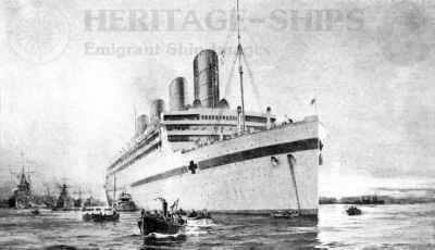 Aquitania - hospital ship WW1