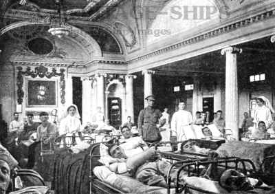 Aquitania - hospital ward WW1