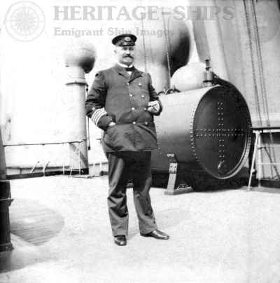 Kaiser Wilhelm der Grosse - Capt. Cuppers on the bridge deck