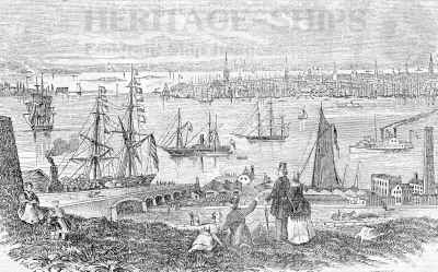 New York harbor 1851