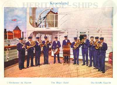 Kroonland - the ship's band