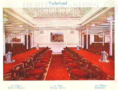 Vaderland (2) - 1st class dining saloon