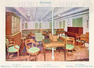 Zeeland (2) - 1st class library & drawing room