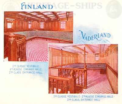 Finland & Vaderland (2) - 2nd class entrance hall