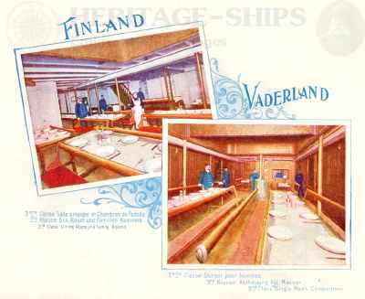 Finland & Vaderland (2) - 3rd class saloons