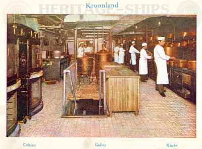Kroonland - the galley