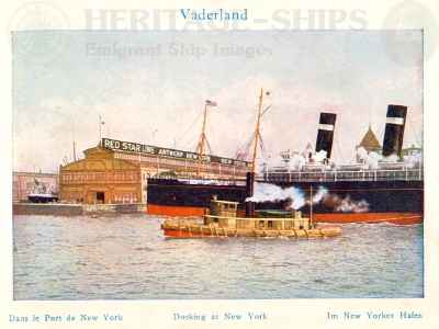 Vaderland (2) - docking at New York
