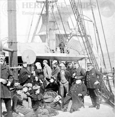 Scythia (1) - officers and passengers on deck
