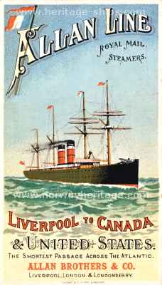 Allan Line - Liverpool to Canada & United States - Click Image to Close