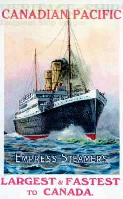 Canadian Pacific - Empress Steamers to Canada