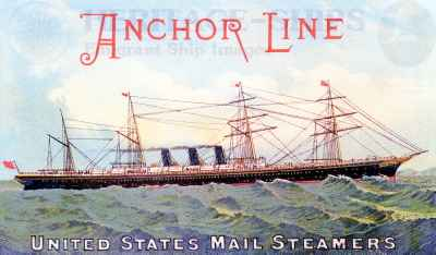 City of Rome - Anchor Line advert