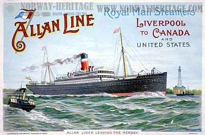 Allan liner leaving the Mersey