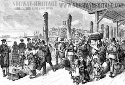 Arrival of immigrants at Castle Garden