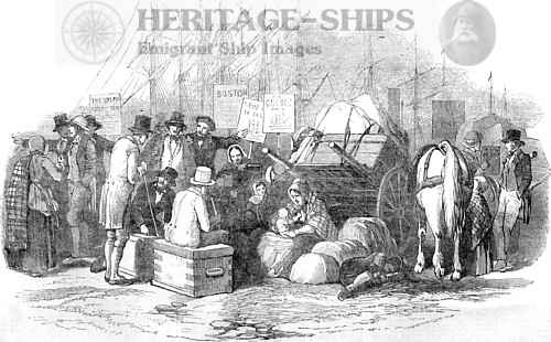 Emigrants departing Cork, Ireland 1851