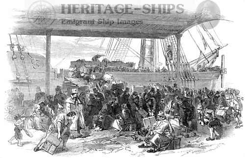 Embarkation of emigrants, Liverpool