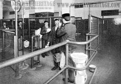 Examination by the doctor at Ellis Island