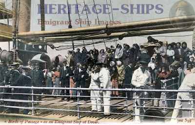 Female steerage passengers at Dover