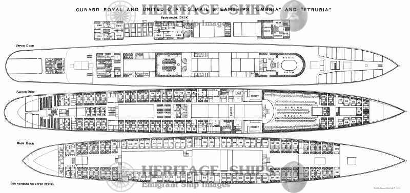 Etruria And Umbria Deck Plans Id 903 Heritage Ships