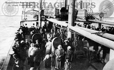 Passengers on the 3rd class promenade deck