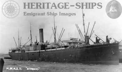 Athenic - as a WW1 transport ship