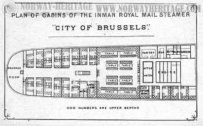 City of Brussels, cabin plan