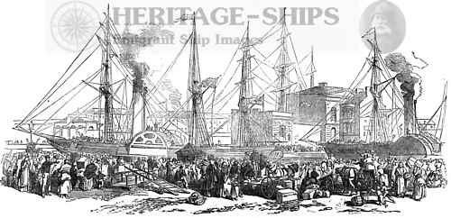 Emigrants departing 1851