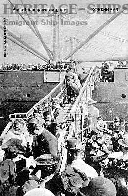 Emigrants embarking at Copenhagen
