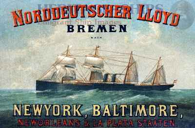 Norddeutscher Lloyd - advertising card