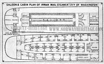 City of Washington - saloon and cabin plan