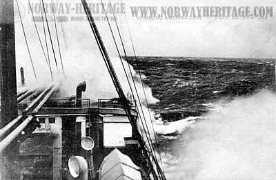 Moltke in rough seas