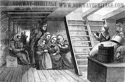Steerage of the ship Superior 1866