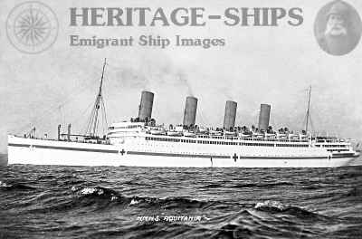 Aquitania - as a hospital ship WW1