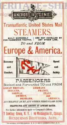 Anchor Line - Transatlantic U.S. Mail Steamers