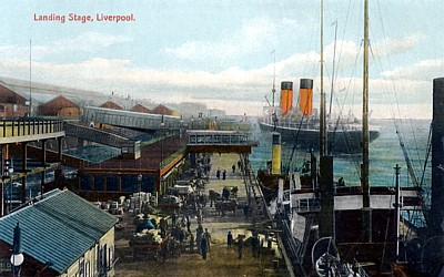Cunarder at Liverpool